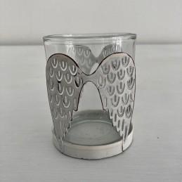 Svícen sklo s křídly
