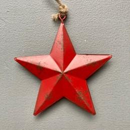Ozdoba červená hvězda plech