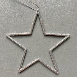 Ozdoba stříbrná hvězda drát
