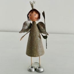 Anděl plech šedý s korunkou