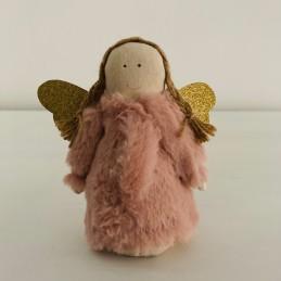 Anjel ružový plyš