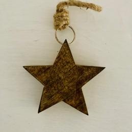Ozdoba hvězda mangové dřevo