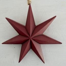 Ozdoba hvězda červená