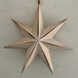 Ozdoba hvězda smetanová