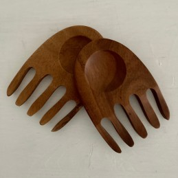 Dřevěný salátový příbor set...