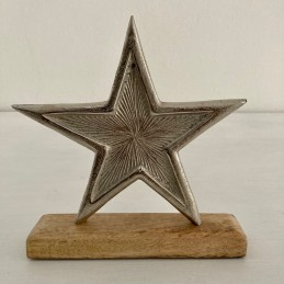 Hviezda drevo+kov