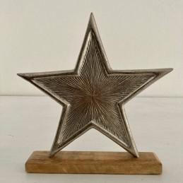 Hvězda dřevo+kov velká