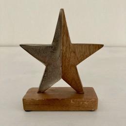 Hvězda dřevo+kov půlená