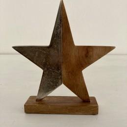 Hviezda drevo+kov půlená