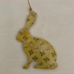 Závěsný zajíc smalt žlutý