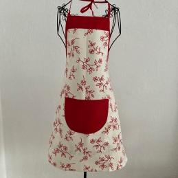 Kuchyňská zástěra Červený květ
