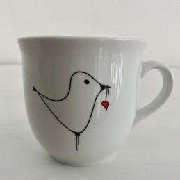 Porcelánový hrnek 0,4 l ptáček