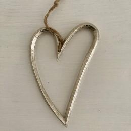 Srdce stříbrné závěsné kov