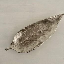 Mísa kov stříbrná list 28 cm
