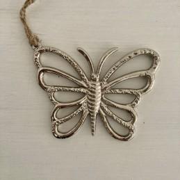 Motýl stříbrný závěsný kov...