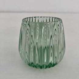 Svícen sklo světle zelený 8 cm