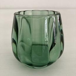 Svícen sklo zelený 8 cm