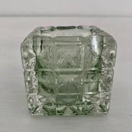 Svícen sklo světlě zelený 7 cm