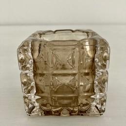 Svícen sklo béžový 7 cm